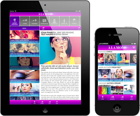 eZ Publish Mobile Suite iPad